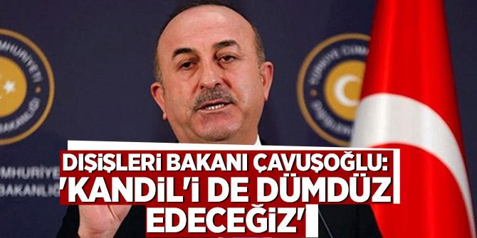 Dışişleri Bakanı Çavuşoğlu: 'Kandil'i de dümdüz edeceğiz'