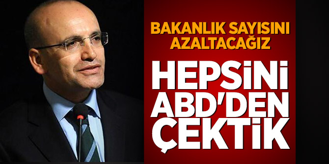 Mehmet Şimşek: Hepsini ABD'den çektik
