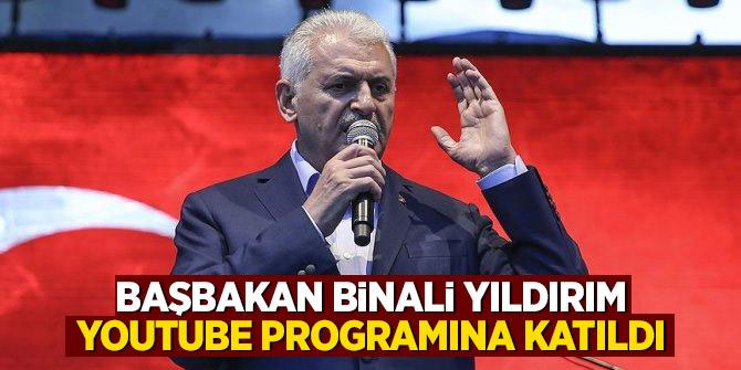 Başbakan Binali Yıldırım, Youtube programına katıldı