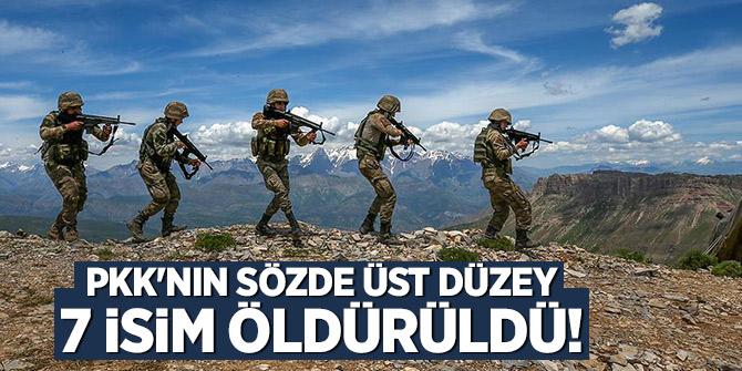 PKK'nın sözde üst düzey 7 isim öldürüldü!