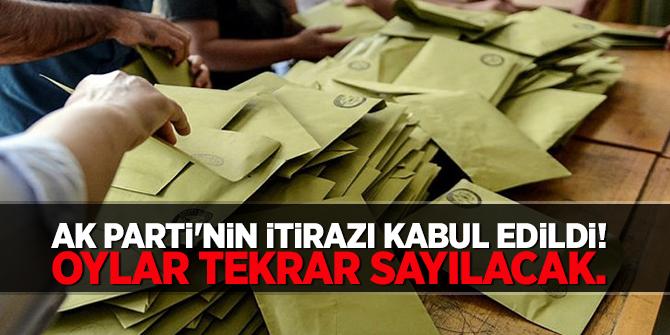 İtiraz  edildi  oylar tekrar sayılacak!