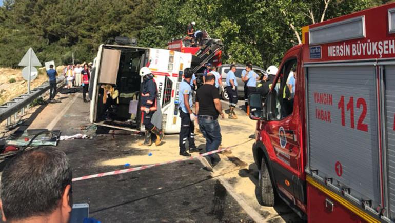 Mersin'de Bu sabah feci kaza yaşandı!