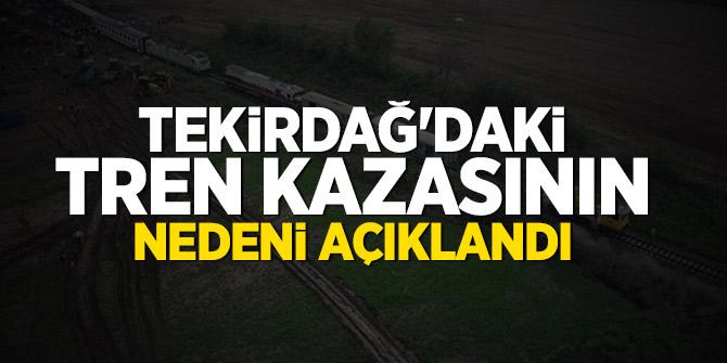 Tekirdağ'daki tren kazasının nedeni açıklandı
