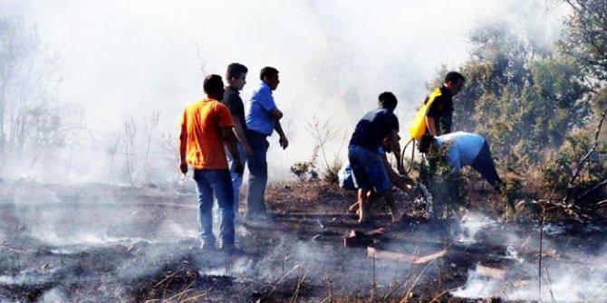 Tatil cennetinde 3 hektar makilik yandı
