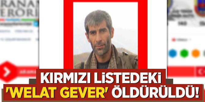 Kırmızı listedeki  'Welat Gever' öldürüldü!