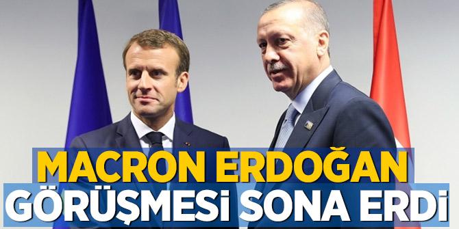 Macron Erdoğan görüşmesi sona erdi