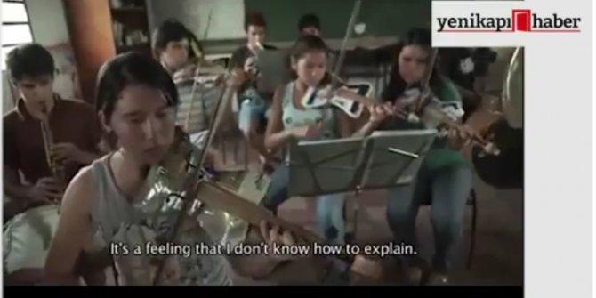 """Çöp""ten kurulan orkestra!"