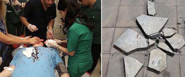 Doktora parke taşıyla saldırı