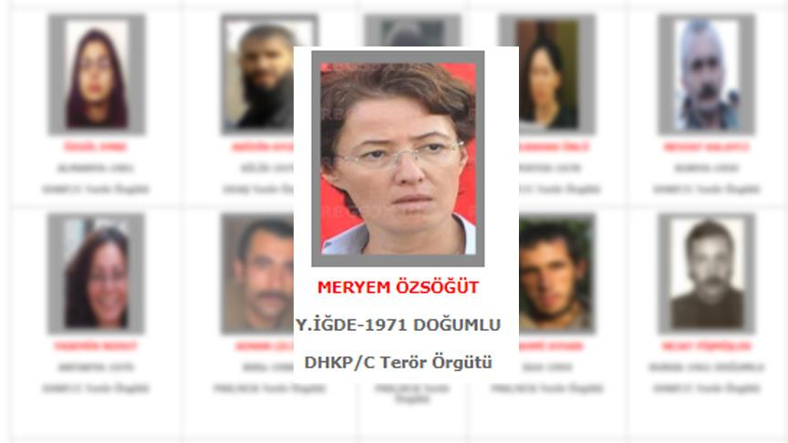 Gri kategorideki DHKP-C'li  Meryem Özsöğüt yakalandı!