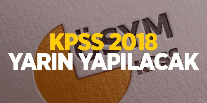 KPSS 2018 yarın yapılacak