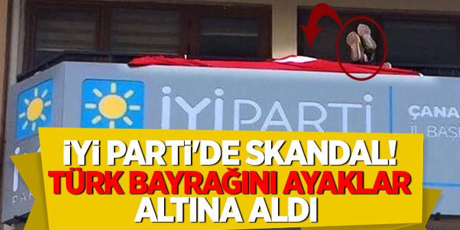 İyi Parti'de skandal! Türk bayrağını ayaklar altına aldı