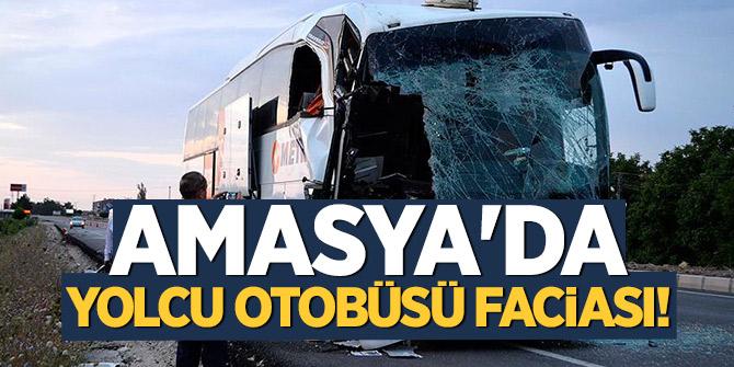 Amasya'da yolcu otobüsü faciası! 23 yaralı