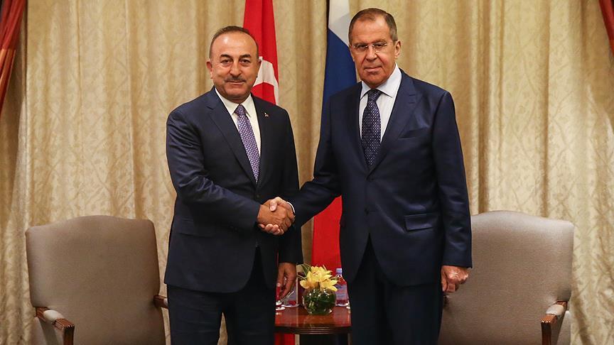 Lavrov  ve Çavuşoğlu bir araya geldi.