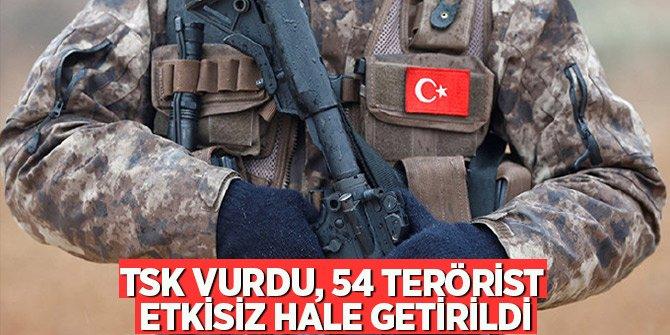 TSK vurdu, 54 terörist etkisiz hale getirildi