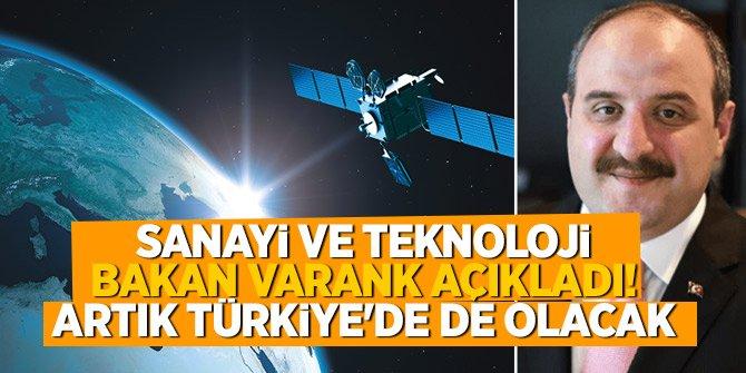 Sanayi ve Teknoloji Bakan Varank açıkladı! Artık Türkiye'de de olacak...