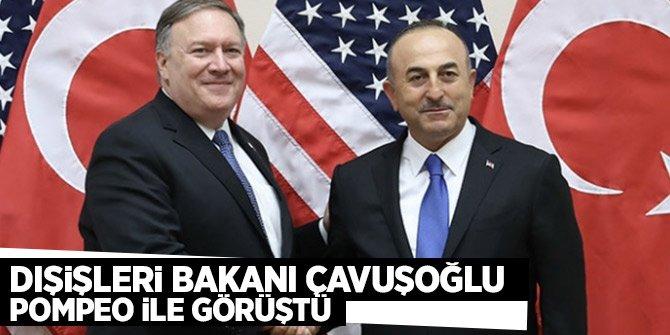 Bakan Çavuşoğlu, Pompeo ile görüştü