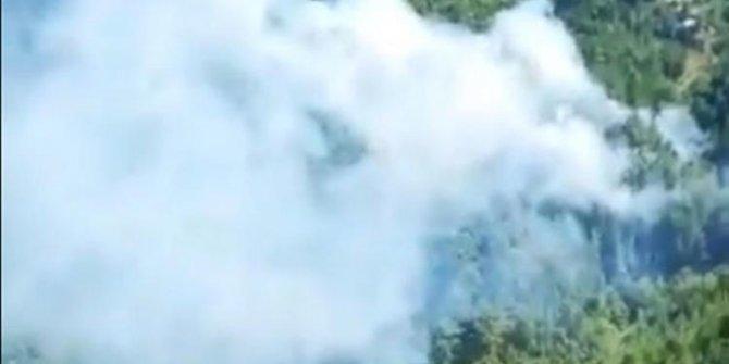 Antalya Gündoğmuş ilçesinde çıkan orman yangını çıktı!