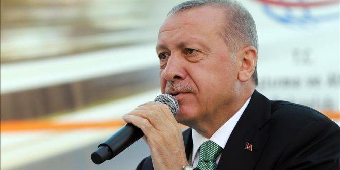 Cumhurbaşkanı Erdoğan Gümüşhane'de konuşuyor