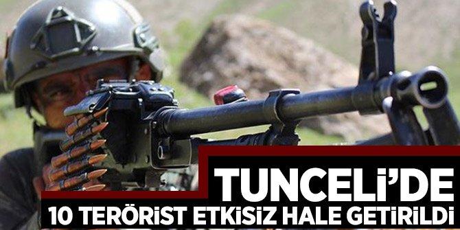 Tunceli'deki operasyonlarda 10 terörist etkisiz hale getirildi
