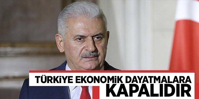 """Yıldırım:""""Türkiyesiyasi hesaplarla yapılanekonomikdayatmalara kapalıdır"""""""