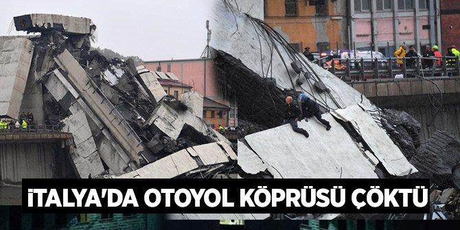 İtalya'nın Cenova şehrinde A-10 otoyolu üstünde bulunan köprü çöktü!