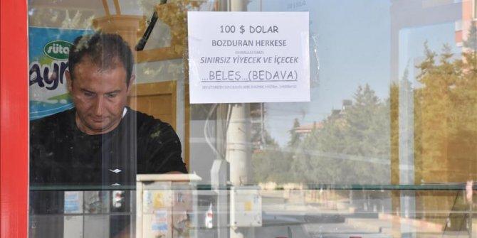 Esnaf 300.000 doları Türk lirasını çevirdi