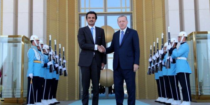 Başkan Erdoğan ile Katar Emiri Al Sani görüşüyor!