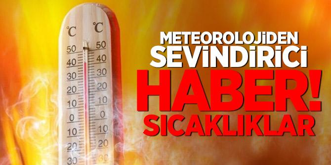 Meteorolojiden sevindirici haber!Sıcaklıklar...( 16.08.2018)