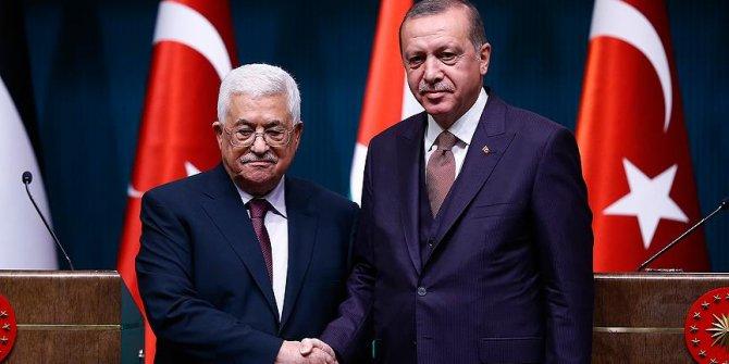Başkan Erdoğan, Mahmud Abbas ile telefonda görüştü
