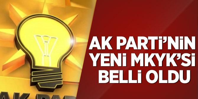 Flaş Flaş Flaş… AK Parti'nin yeni MKYK'si belli oldu