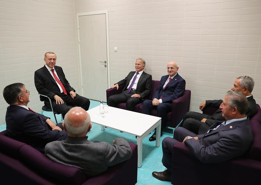 Erdoğan eski TBMM Başkanlarını kabul etti!