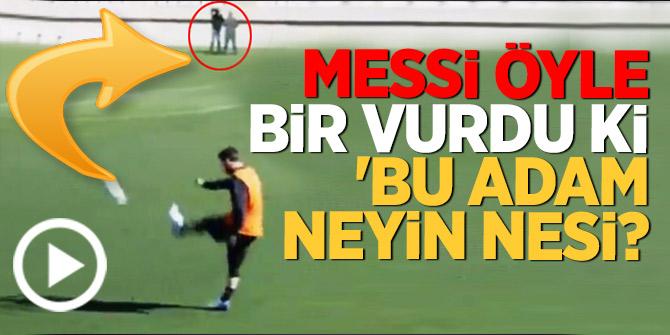 Messi öyle bir vurdu ki.... 'Bu adam neyin nesi?
