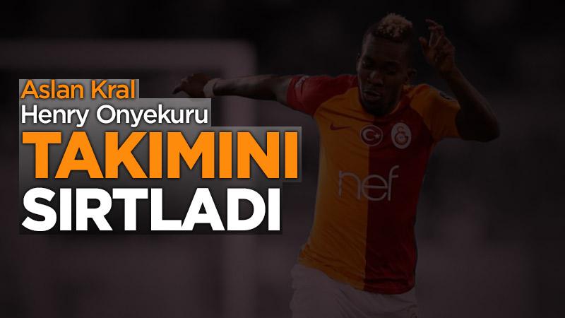 Galatasaray Onyekuru'nun golü ile 3 puanı aldı