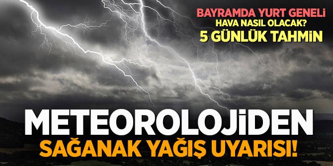 Meteoroloji açıkladı! Bayramda yurt geneli hava nasıl olacak? Son hava raporları....