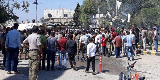 Azez ilçe merkezinde bombalı saldırı: 2 ölü, 18 yaralı