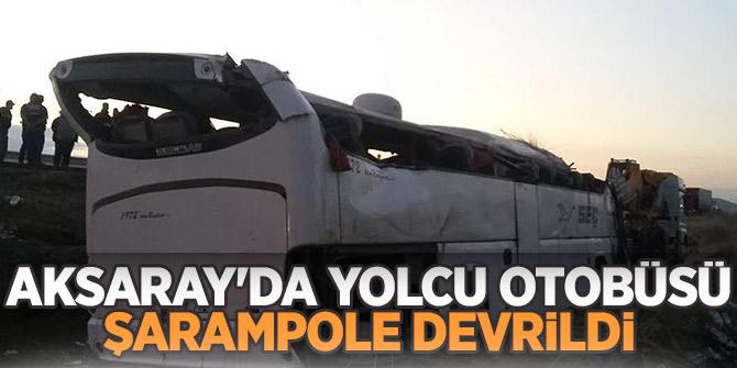 Aksaray'da yolcu otobüsü şarampole devrildi! 5 ölü