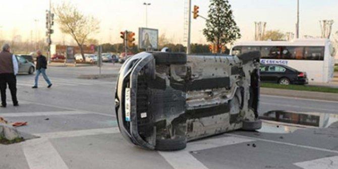 İstanbul Kartal'da trafik kazası: 1 kişi yaralandı