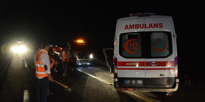 Hasta taşıyan ambulans kaza yaptı: 6 yaralı