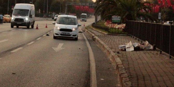 İstanbul'da feci kaza! Karşıya geçmeye çalışırken...