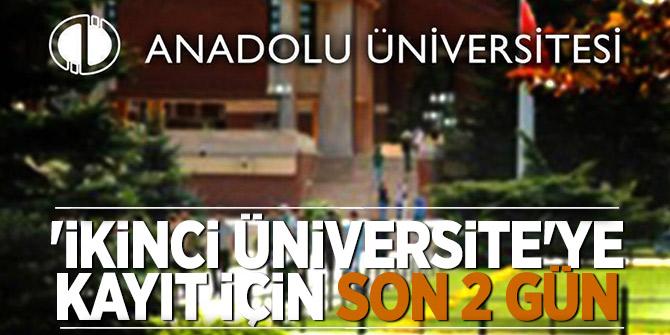 İkinci üniversite programı kayıtları için son 2 gün
