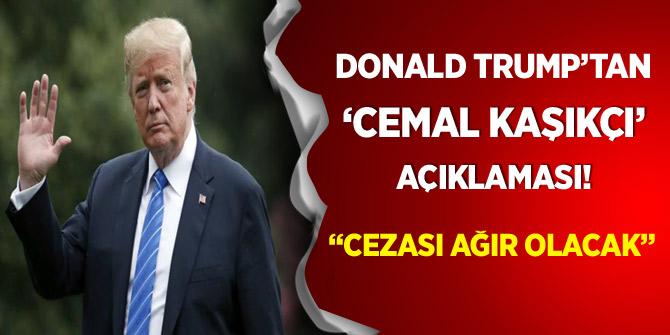 Donald Trump'tan yeni 'Kaşıkçı' açıklaması