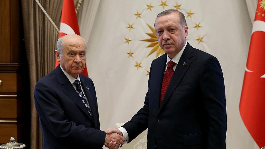 Yarın Erdoğan ve Bahçeli görüşecek