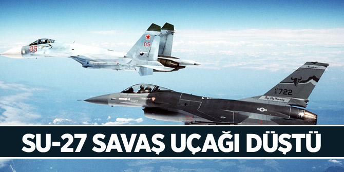 Su-27 savaş uçağı düştü! 2 asker öldü