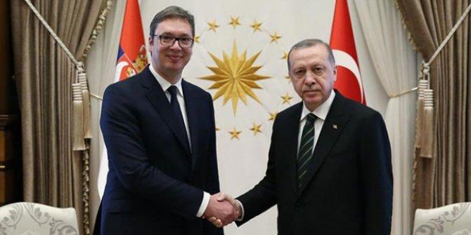 Başkan Erdoğan Sırbistan Cumhurbaşkanı Vucic ile görüştü!