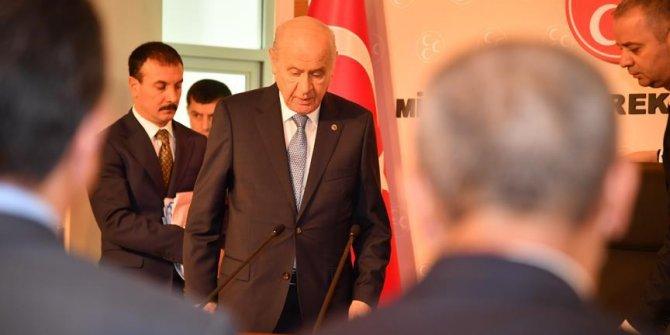 Bahçeli il başkanlarıyla toplandı