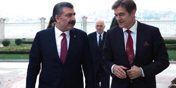 Sağlık Bakanı Koca  ile Dr. Mehmet Öz bir araya geldi