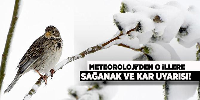 Meteoroloji'den o illere sağanak ve kar uyarısı!