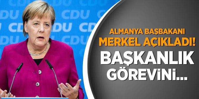 Merkel Açıkladı! Başkanlık görevini...