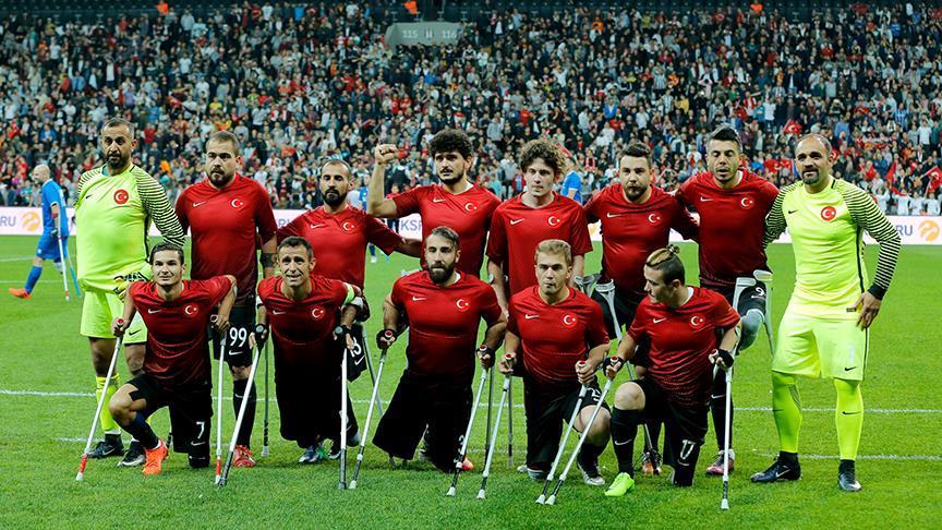 Ampute Futbol Milli Takımı çeyrek finalde