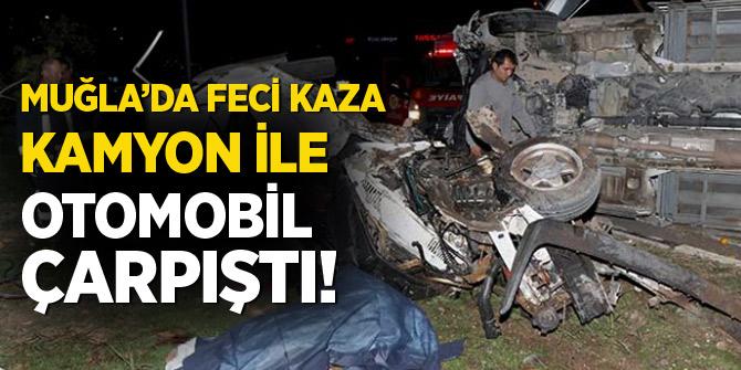 Muğla'da korkunç kaza! 2 ölü, 1yaralı